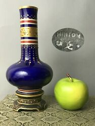 A Minton Possibly Christopher Dresser Jewelled And Gilt Vase 19thc