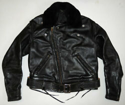 Vintage 60s/70s Cal Leather Motorcycle Jacket 48l Chp Style Biker Xl Nice