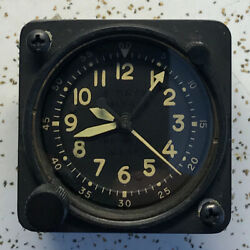 Usaf Waltham Precision A-13a-2 400192 Aircraft Chrono Clock Vcat Yellow Numbers