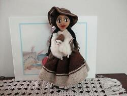 Vintage Peruvian Doll Holding Babies And Llama One Of A Kind Handmade 13 Inch