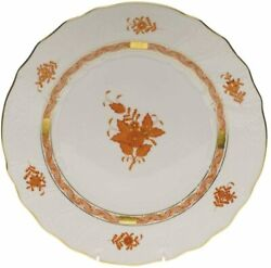 Herend Chinese Bouquet Rust Porcelain Dinner Plate