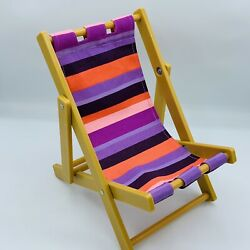 OG Our Generation Striped Sun Lounge Chair From Day At The Beach For 18quot; Doll $17.99