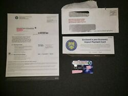 Trump Stimulus Not Check Eipcard 600 Cashed Plus Letters . Extremely Rare