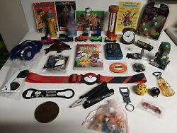 New And Old Junk Drawer Lot 38 Pieces, Wholesale Lots, Pokémon, Bar, Kelloggs, Pin