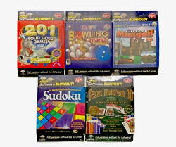Vintage Lot Cd-rom Pc Games Win 95 98 Me Nt 4 2000 Or Xp Bowling Sudoku Sealed