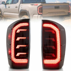 Vland Taillights Black Rear Brake Lamps Pair For 2016-2021 Toyota Tocoma Pickup
