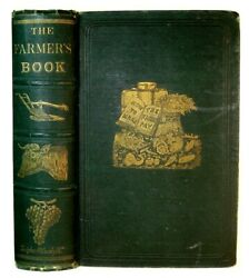 1870 Antique Farm Barn Rural Architecture Plow Tools Horse Bees Cookery Wine Old