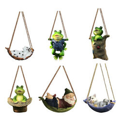 Garden Animals Statue Outdoor Hanging Funny Lawn Statues Decor Ornament