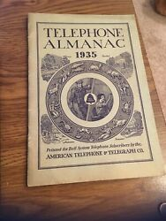 Telephone Almanac 1935 For Atandt Bell System Subscribers