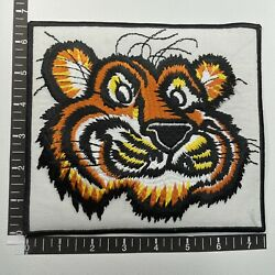 """Vtg Old Giant 7.5"""" Esso Tiger Oil Gasoline Products Gas Station Ad Patch 15l3"""