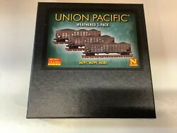Micro Trains 993 05 920 N Scale Union Pacificandrdquo Weathered Hopper 3 Pack