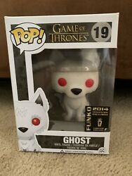 Funko Pop Game Of Thrones 19 Ghost Flocked 2014 Sdcc Convention Exclusive