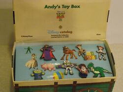 Disney / Pixar Toy Story 2 Andy's Toy Box 7 Pin Set -le2500 Covered Wagon Bx