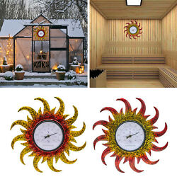Indoor Outdoor Thermometer Round Waterproof Wall Thermometers Garden Decor