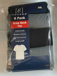 George Menandrsquos Crew T-shirts 6-pack Tag Free Size 3xl Black/grey
