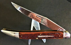 Vintage - New Old-stock { Winchester Bullet } Large Toothpick Redbone Handles