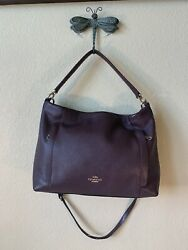 COACH 24770 SCOUT HOBO PEBBLED LEATHER BAG oxblood $60.00