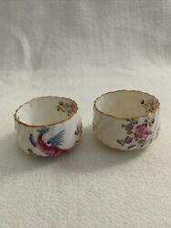 Minton Pink Cockatrice 12 Salt Or Spice Cellars Rare Difficult To Find