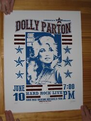 Dolly Parton Poster Silk Screen Signed Numbered Hard Rock June10th