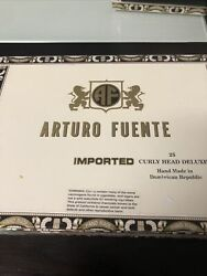 Arturo Fuente Curly Head Deluxe Paper Covered Wood Cigar Box Andndash Old Or Vintage Nr