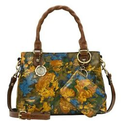 *NWT* Patricia Nash Norcia Leather Crossbody Purse with Zip Pouch Wildflower $79.95