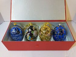 Joan Rivers Qvc Faberge Eggs Ornaments Set Of 4 Christmas/easter/anytime