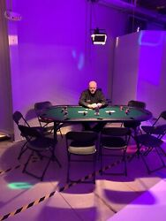 Poker Table For 10 Players - Green Felt…..cup Holders