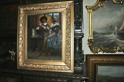 Colorful Impressionist By Listed German Artist Hans Sam Early 20th Century