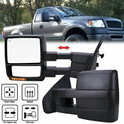 Pair For 04-06 Ford F150 Tow Mirrors Led Turn Signals Power Heated Telescoping