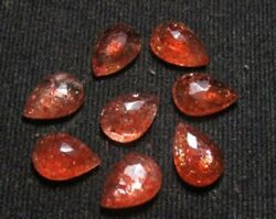 Natural Sunstone Pear Rose Cut Loose Gemstone 8x12mm To 10x14mm High Quality