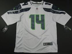 Nwt Dk Metcalf 14 Seattle Seahawks On-field Game Jersey White
