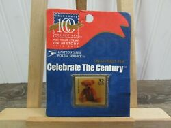 1998 Celebrate The Century Teddy Bear 32 Cent Stamp Usps Collectible Pin Unused