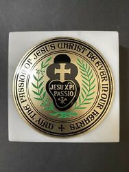 May The Passion Of Jesus Be Ever In Our Hearts Medal On Marble Base Italy 987