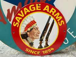 Top Quality Savage Arms Since 1894 - Porcelain Coated 18 Gauge Steel Sign