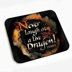 The Hobbit An Unexpected Journey Mouse Pad Never Laugh at Live Dragon LOTR