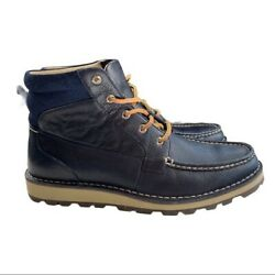 Sperry Navy Blue Dockyard Leather Lace Up Boots Size 10.5 Mens