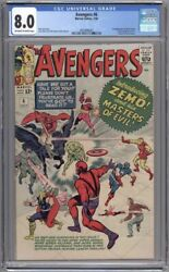 Avengers 6 Cgc 8.0 - 1st App Of Baron Zemo Falcon And Winter Soldier Tv Show