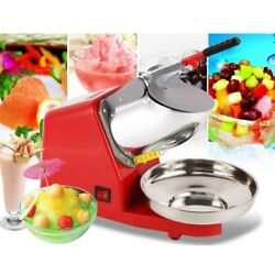 Electric Ice Crusher Smoothie Shaver Snow Cone Block Breaking Grinder Commercial