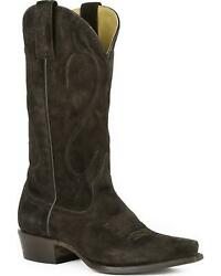 Stetson Womenand039s Reagan Dark Rough Out Western Boot Snip Toe - 12-021-6105-1004
