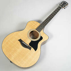 Taylor 114ce Model S/n 2105168 Strings Dot Inlays Acoustic Guitar With Gig Bag J