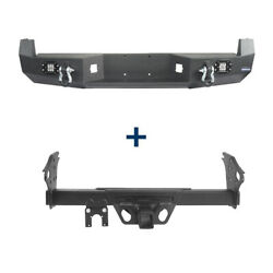 Textured Step Rear Bumper + 2 Inch Hitch Receiver Fit 05-15 Toyota Tacoma Truck