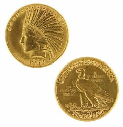 10 Gold Eagle Indian Head Jewelry Raw Gold Coin Random Year