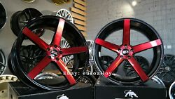 Neuf 4x22 Inch 5x115 Str Racing Roues Hellcat Srt Pour Dodge Challenger Chargeur