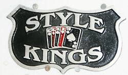 Car Club Plaque Sign Badge Style Kings San Francisco Bay Area Hot Rod Bomber Sf