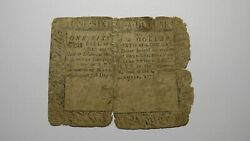 1775 1/6 Annapolis Maryland Md Colonial Currency Note Bill Rare Issue