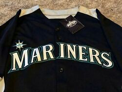 Team Issued 2013 Seattle Mariners Navy Mlb Jersey 29 Brumley Majestic Size 44