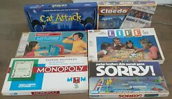 Classic 80s Board Game Collection Monopoly, Life, Sorry, Battleship, Cluedo