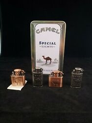 Camel Special Mild Blend Lights 50 Book Matches Tin And 4 New Promotional Lighters