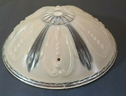 Vintage Antique Art Deco Glass Chandelier Light Lamps Shade Pink Frosted Fixture