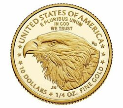 2021-w 1/2 Oz American Eagle One-half Ounce Gold Proof Coin 21ecn Type 2
